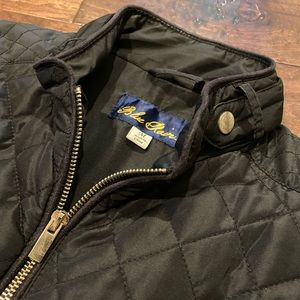Blue Rain quilted black vest with zippers M